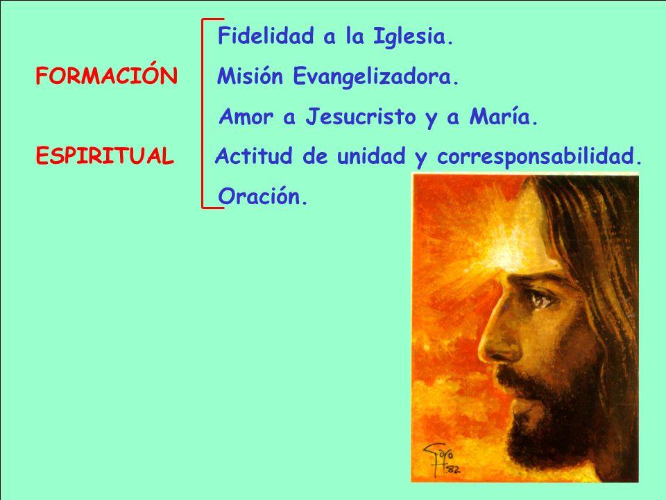 Fidelidad a la Iglesia.FORMACIÓN Misión Evangelizadora.