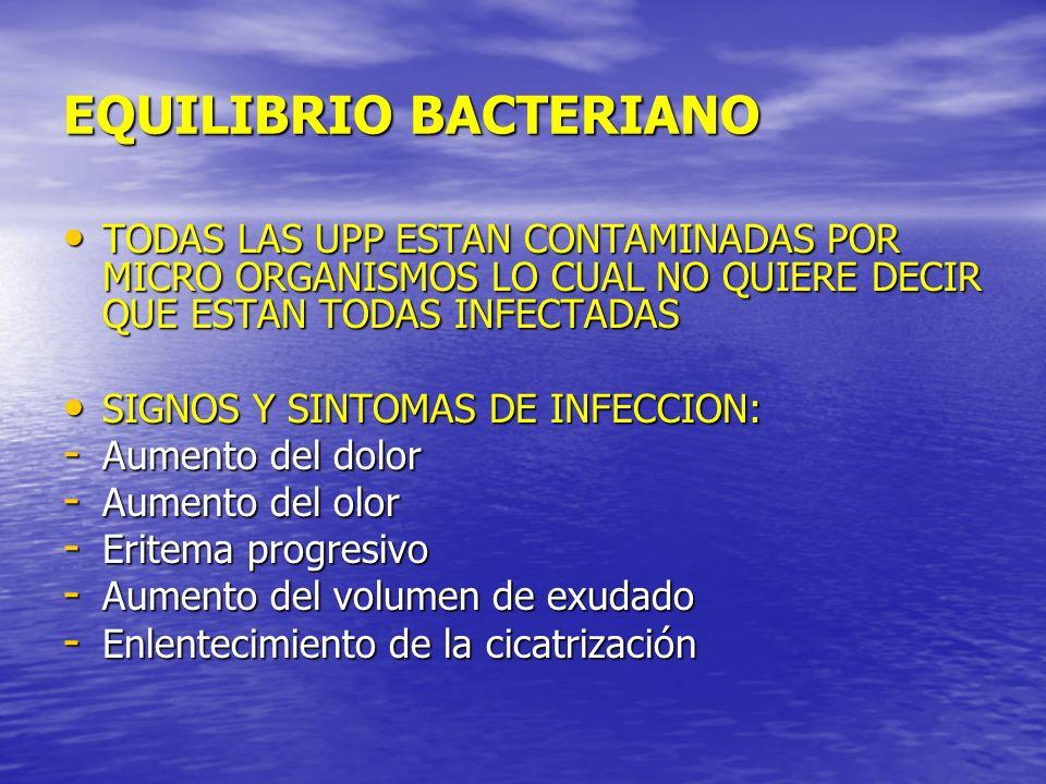 EQUILIBRIO BACTERIANO TODAS LAS UPP ESTAN CONTAMINADAS POR MICRO ORGANISMOS LO CUAL NO QUIERE DECIR QUE ESTAN TODAS INFECTADAS TODAS LAS UPP ESTAN CON