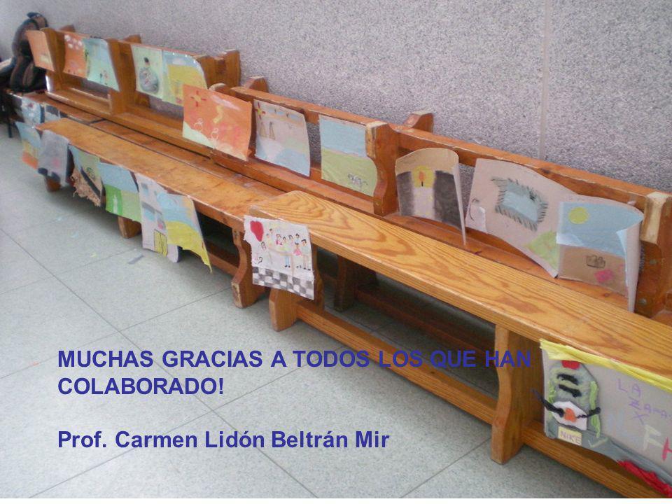 MUCHAS GRACIAS A TODOS LOS QUE HAN COLABORADO! Prof. Carmen Lidón Beltrán Mir