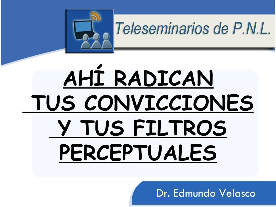 AHÍ RADICAN TUS CONVICCIONES Y TUS FILTROS PERCEPTUALES