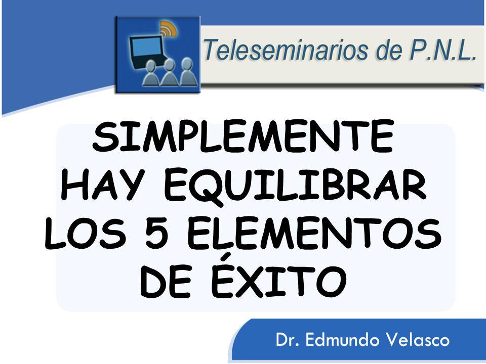 SIMPLEMENTE HAY EQUILIBRAR LOS 5 ELEMENTOS DE ÉXITO