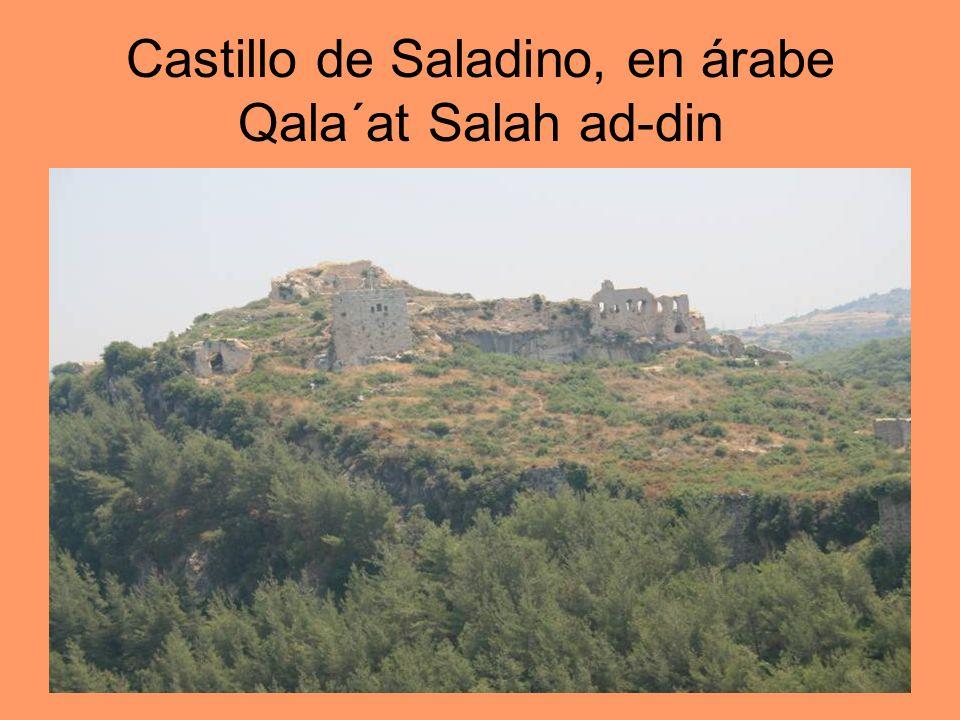 Castillo de Saladino, en árabe Qala´at Salah ad-din