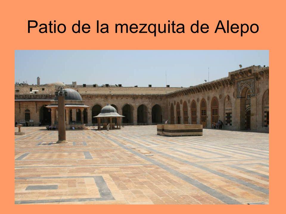 Patio de la mezquita de Alepo