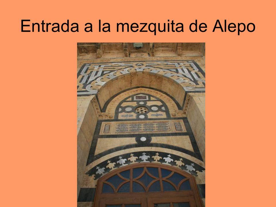 Entrada a la mezquita de Alepo