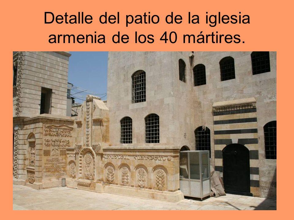 Detalle del patio de la iglesia armenia de los 40 mártires.