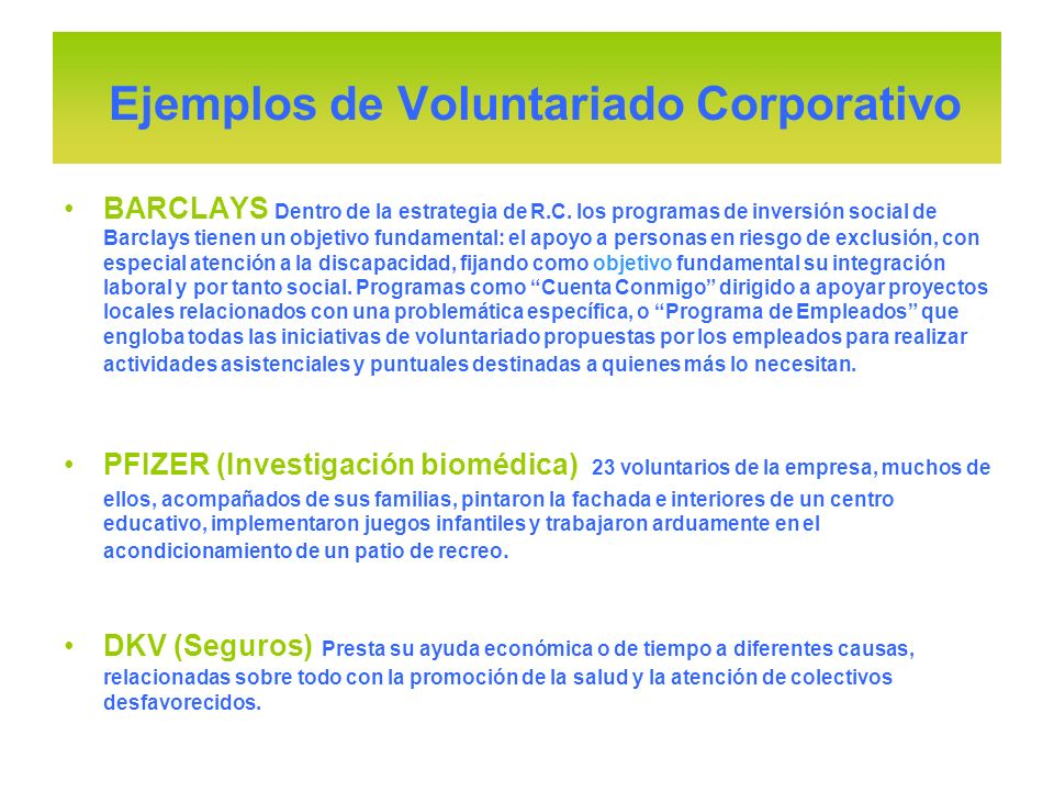 BARCLAYS Dentro de la estrategia de R.C. los programas de inversión social de Barclays tienen un objetivo fundamental: el apoyo a personas en riesgo d