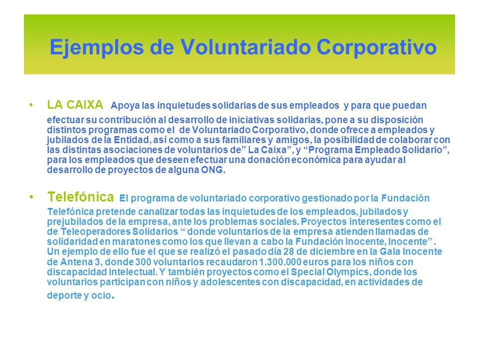 LA CAIXA Apoya las inquietudes solidarias de sus empleados y para que puedan efectuar su contribución al desarrollo de iniciativas solidarias, pone a