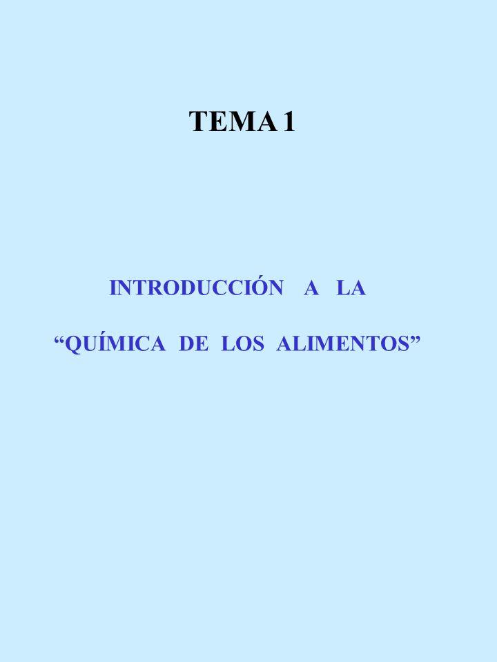 INTRODUCCIÓN A LA QUÍMICA DE LOS ALIMENTOS TEMA 1