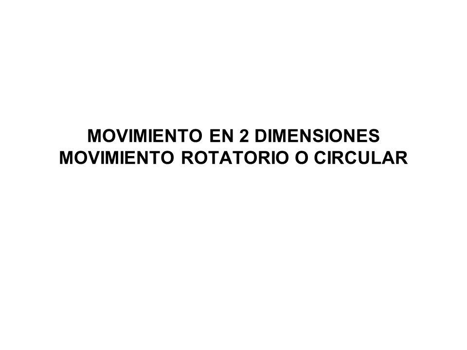 MOVIMIENTO EN 2 DIMENSIONES MOVIMIENTO ROTATORIO O CIRCULAR
