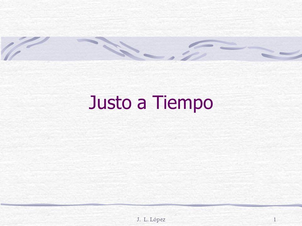 J. L. López1 Justo a Tiempo