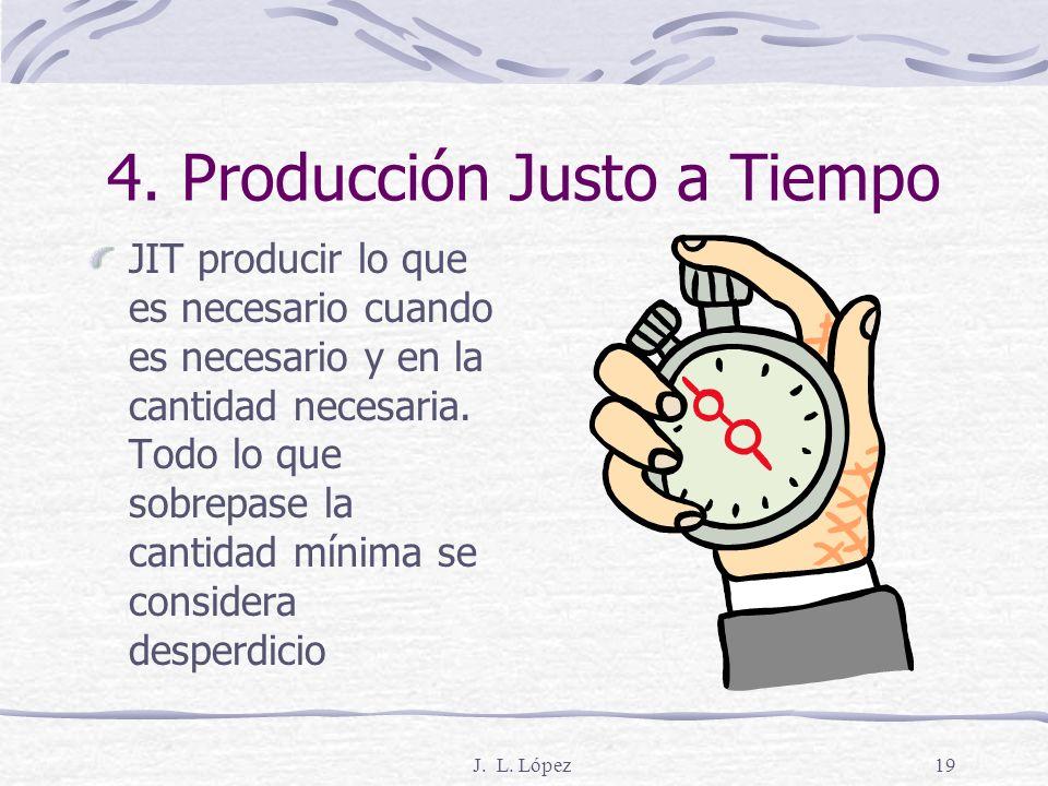 J. L. López18 3. Calidad en la fuente Significa hacer las cosas bien desde el principio y, cuando algo sale mal, detener el proceso o la línea de ensa