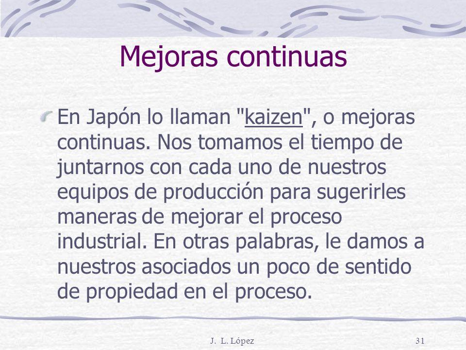 J. L. López30 Respeto por las personas Mantener el nivel de las nóminas Los sindicatos empresariales existen para promover una relación cooperativa co