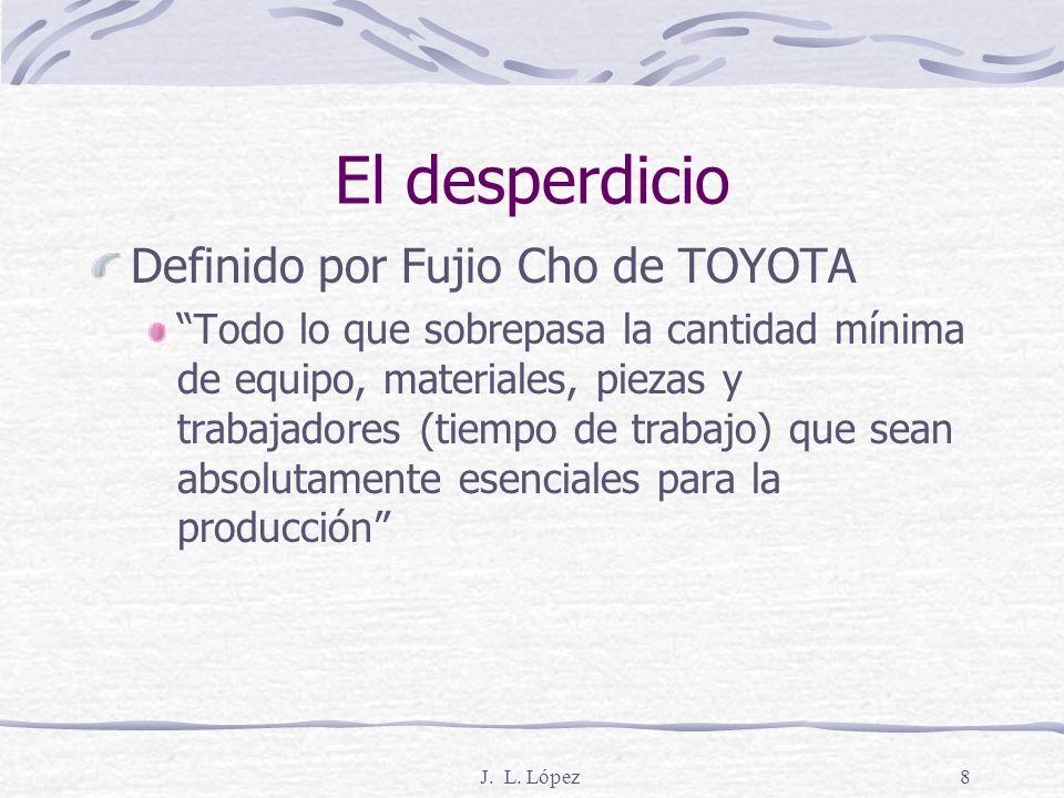 J. L. López7 Basado en dos filosofías 1) Eliminación del desperdicio 2) Respeto por la gente