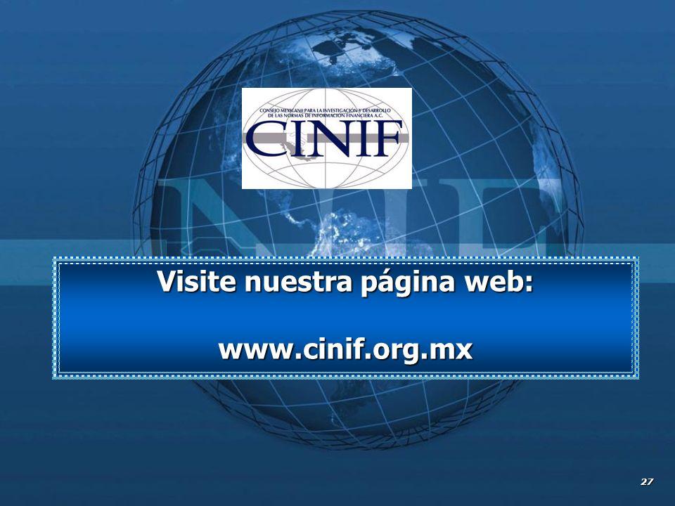 27 Visite nuestra página web: www.cinif.org.mx