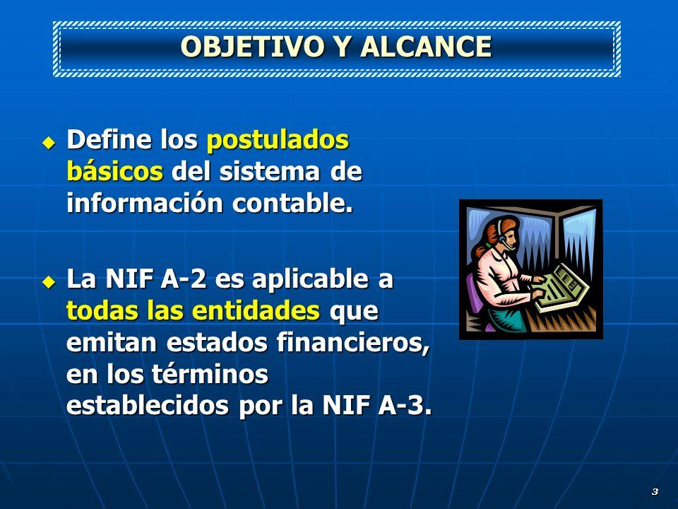 3 Define los postulados básicos del sistema de información contable. Define los postulados básicos del sistema de información contable. La NIF A-2 es