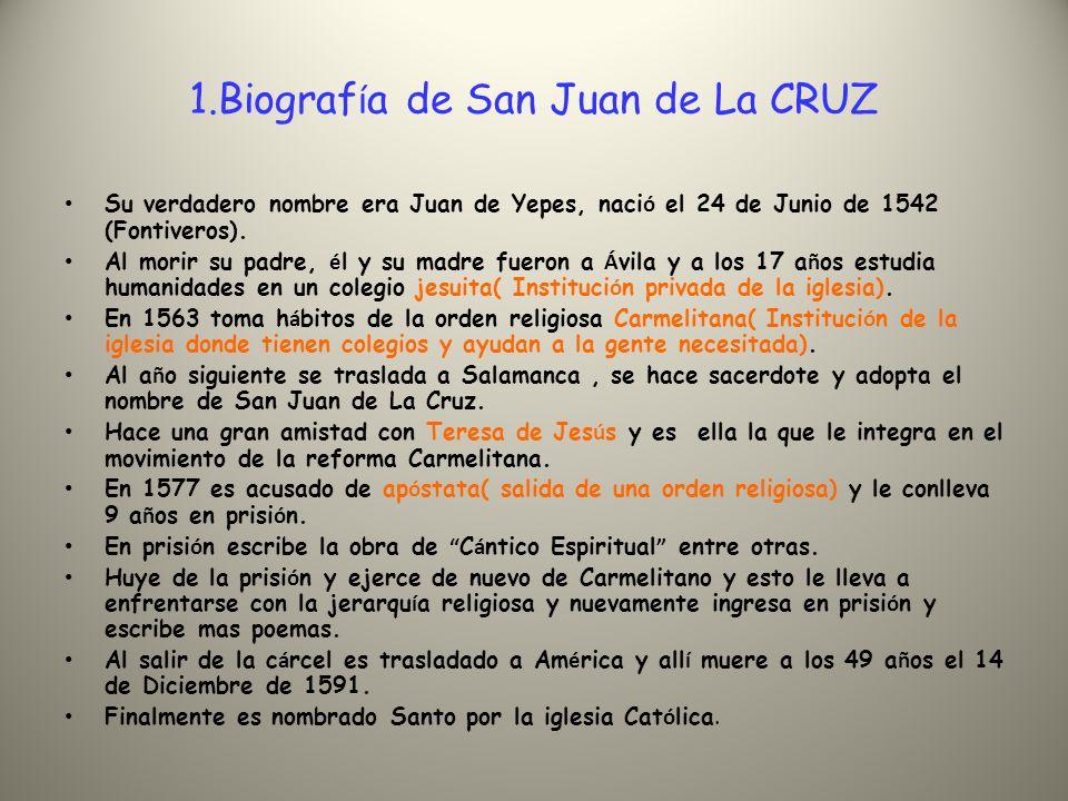 2.¿ Sobre qui é n tuvo influencia San Juan de la Cruz.