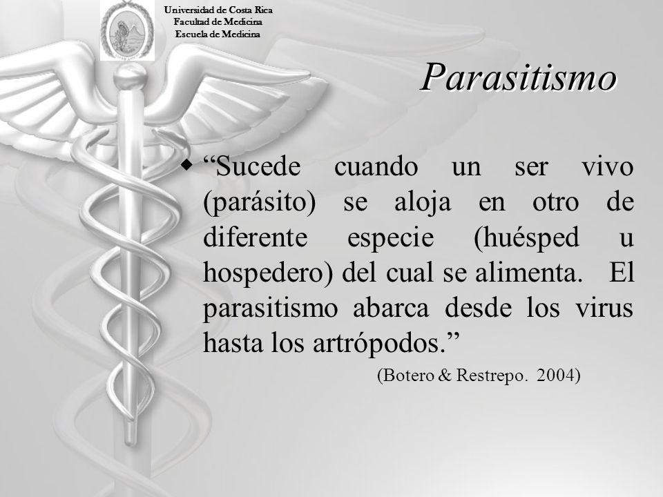 Parasitología Parasitología es la ciencia que estudia los organismos (parásitos) que viven en el interior o exterior de otro hospedero, extrayendo de este su alimento y abrigo, siendo que esta asociación no siempre es nociva para el hospedero.