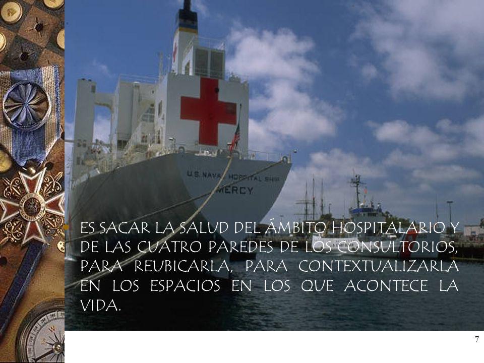 8 PROMOVER LA SALUD ES SALVARLA DE LA MEDICALIZACIÓN Y UBICARLA CERCA DE LA GENTE, EN LAS MANOS DE LA GENTE Y CON UN ALTO NIVEL DE IMPORTANCIA Y DE POSIBILIDAD DE ACCESO PARA LA MAYORÍA DE LAS PERSONAS.