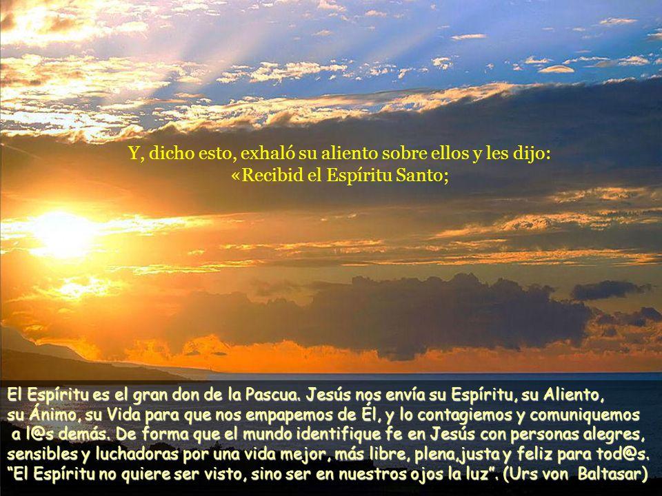 Y, diciendo esto, les enseñó las manos y el costado. Y los discípulos se llenaron de alegría al ver al Señor. Jesús repitió: «Paz a vosotros. Como el
