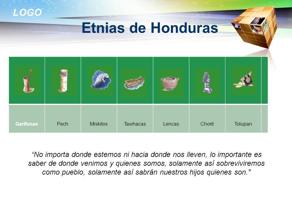 LOGO Etnias de Honduras GarifunasPechMiskitosTawhacasLencasChortíTolupan No importa donde estemos ni hacia donde nos lleven, lo importante es saber de