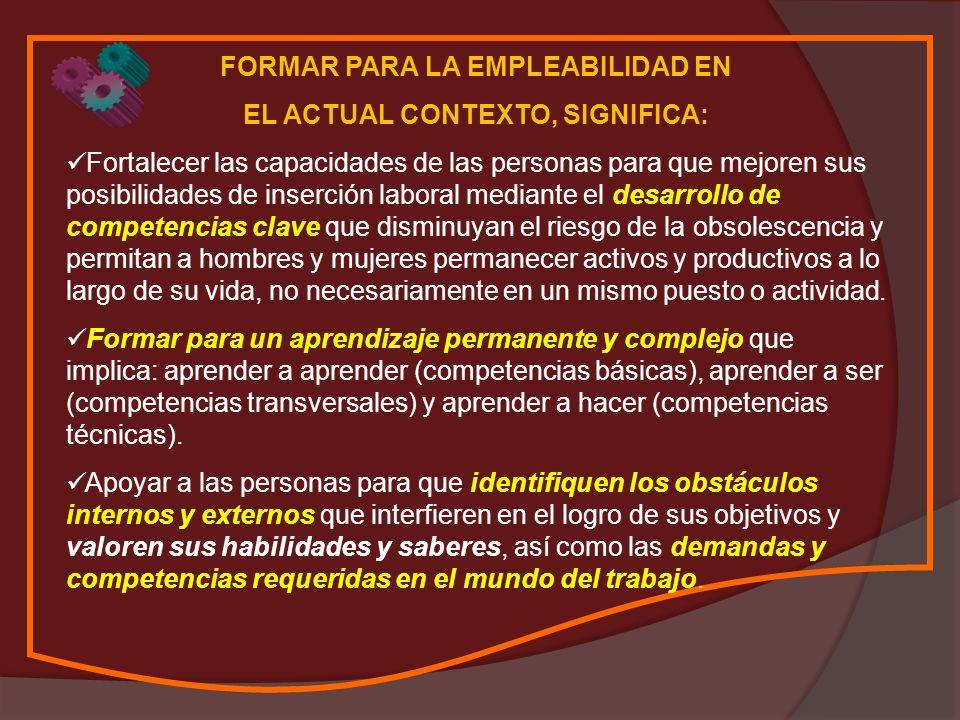 ¿QUÉ SIGNIFICA COMPETENCIAS CLAVE.