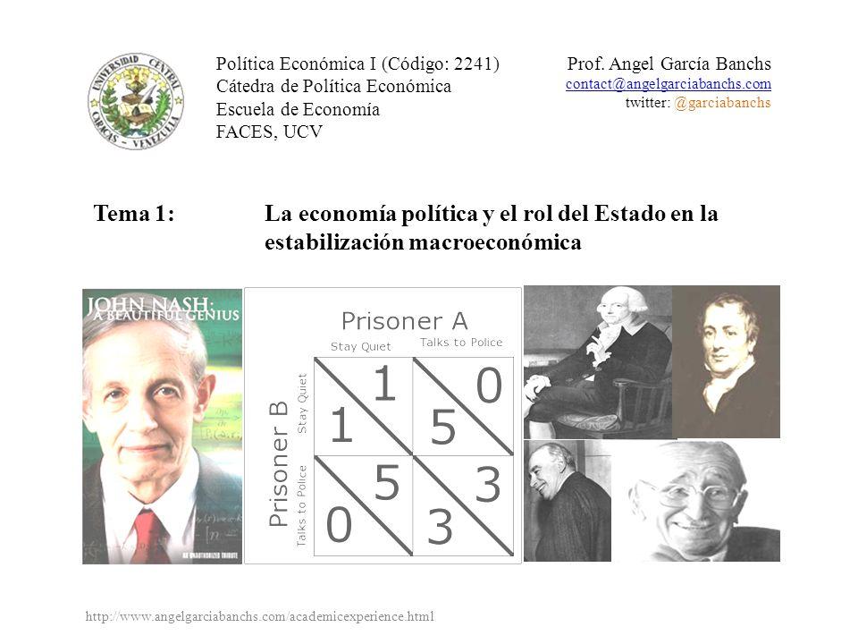 La economía política clásica y la intervención del Estado ¿Cuál era la posición general de la economía política clásica respecto al rol del Estado en la economía.