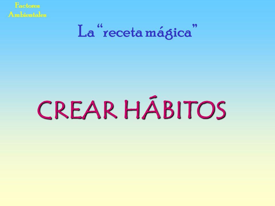 Factores Ambientales CREAR HÁBITOS La receta mágica