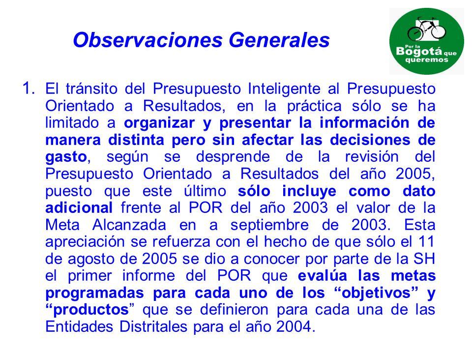Observaciones Generales 1.