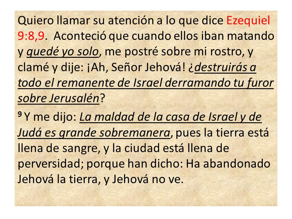 ¿Cuál es la razón para que Ezequiel quedara solo.La Historia de la Redención en la P 48.