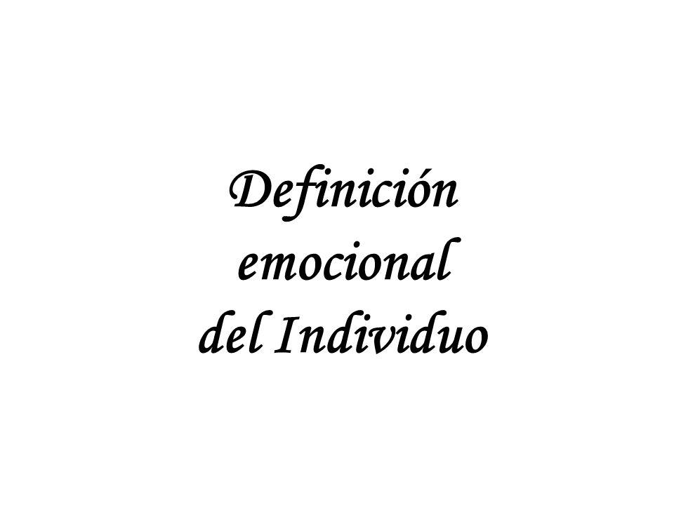 Definición del Individuo Dos fuerzas en conflicto Todas las relaciones principian con niveles muy altos de cercanía emocional.