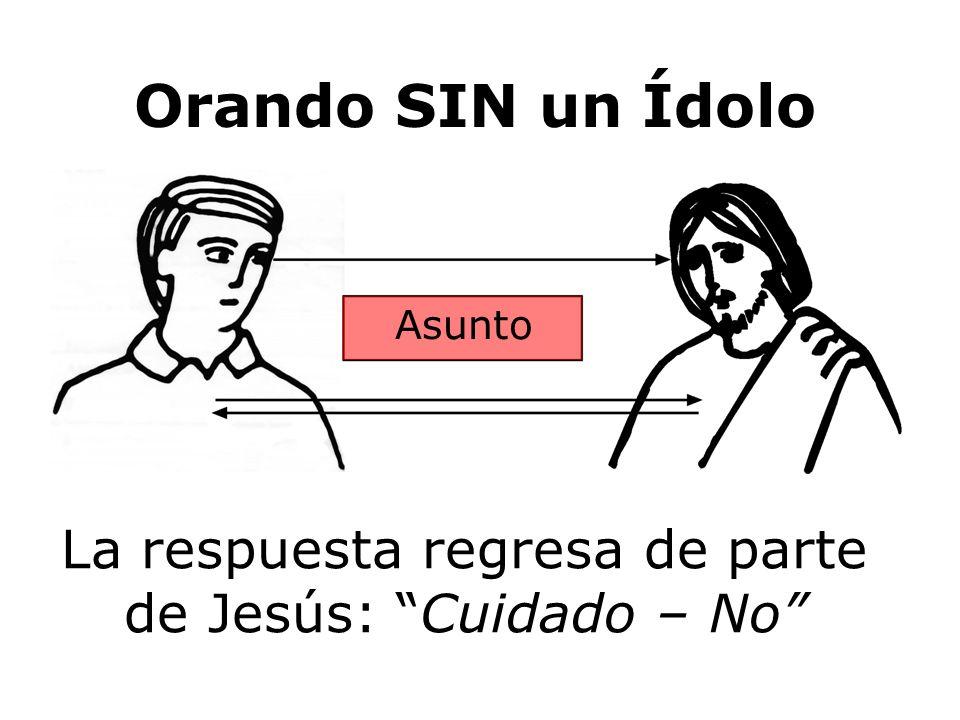 La respuesta regresa de parte de Jesús: Cuidado – No Orando SIN un Ídolo Asunto