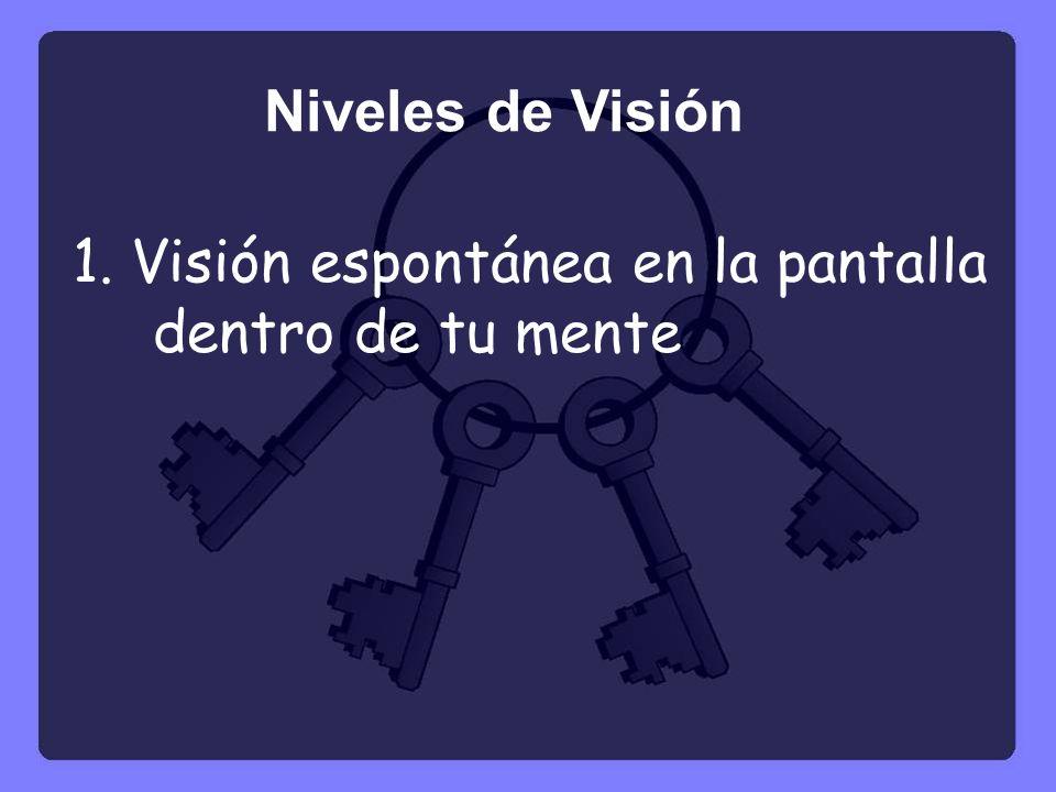 1. Visión espontánea en la pantalla dentro de tu mente Niveles de Visión