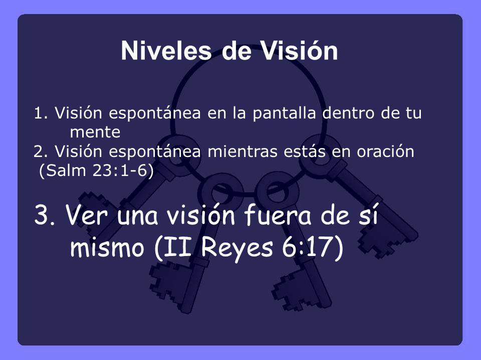 1.Visión espontánea en la pantalla dentro de tu mente 2.