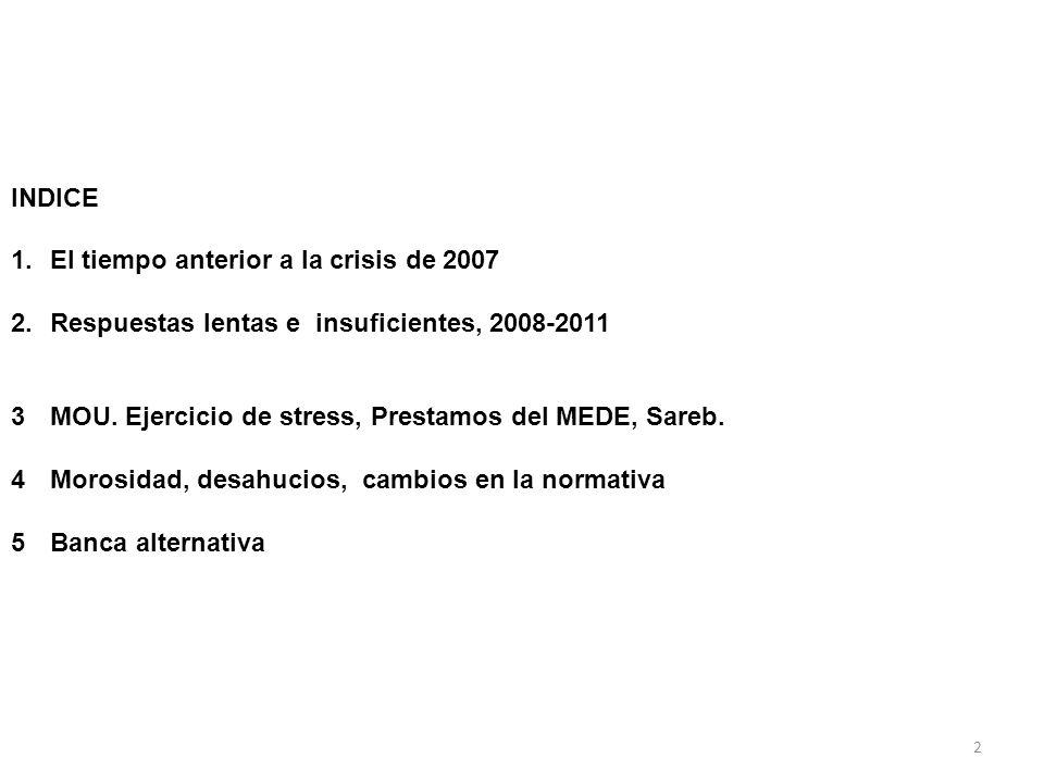 INDICE 1.El tiempo anterior a la crisis de 2007 2.Respuestas lentas e insuficientes, 2008-2011 3MOU.