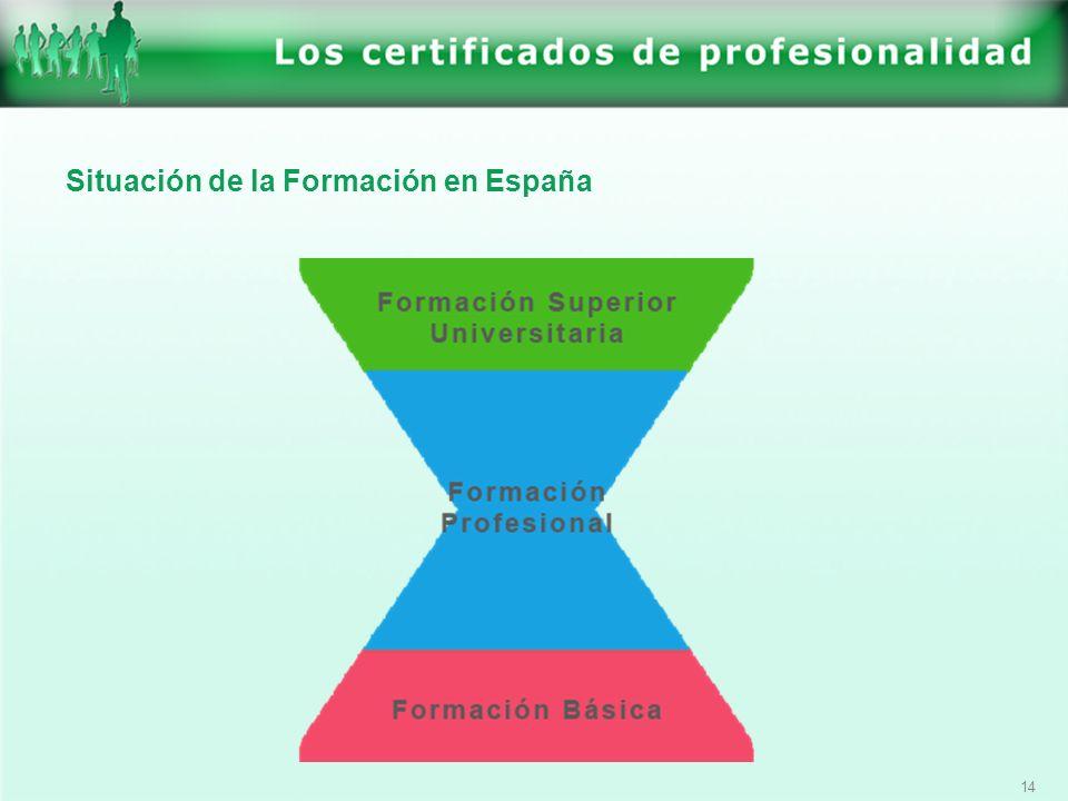 14 Situación de la Formación en España