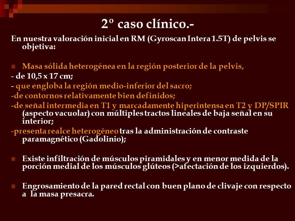 2º caso clínico.- T1,axial DP/SPIR, axial