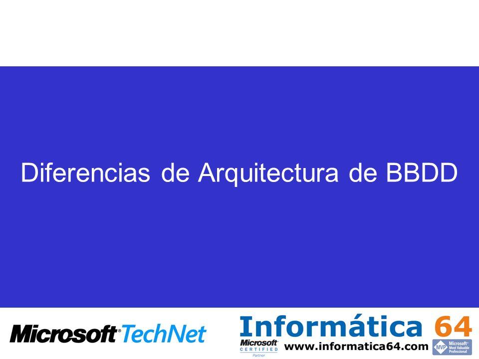Diferencias de Arquitectura de BBDD