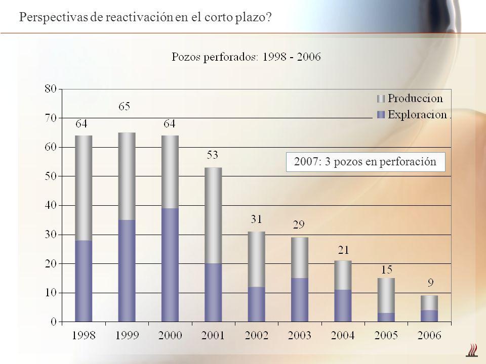 2007: 3 pozos en perforación