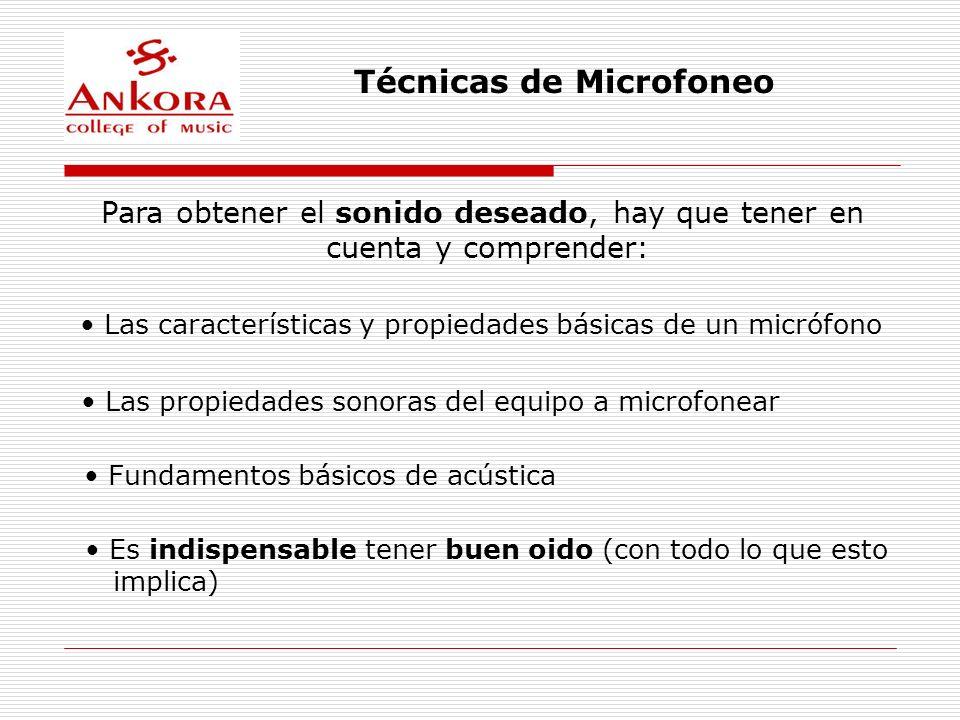 Técnicas de Microfoneo ~ Consejos Prácticos ~ Antes de microfonear, asegúrate que el instrumento o voz suenen acústicamente bien.