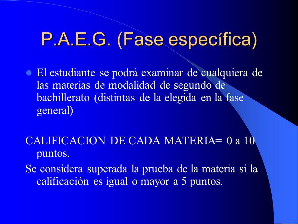 P.A.E.G.Calificaci ó n.