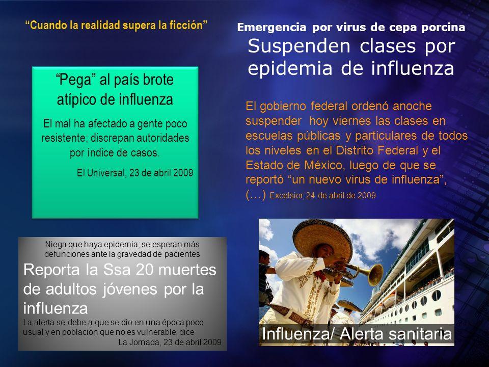 2004 Organización Panamericana de la Salud Estudio de caso: pandemia de influenza H1N1 2009 -2010 El mundo estaba siendo alertado sobre un nuevo virus de influenza 25 de abril de 2009, la OMS mantienOMS la alerta en fase 3 27 de abril de 2009, OMS eleva a fase 4 29 de abril de 2009, OMS eleva a fase 5 30 de abril de 2009 la Organización Mundial de la Salud (OMS) decidió denominarla gripe A (H1N1).2009Organización Mundial de la Salud 11 de junio de 2009, se adoptó la medida de declarar la fase 6 de alerta de pandemia