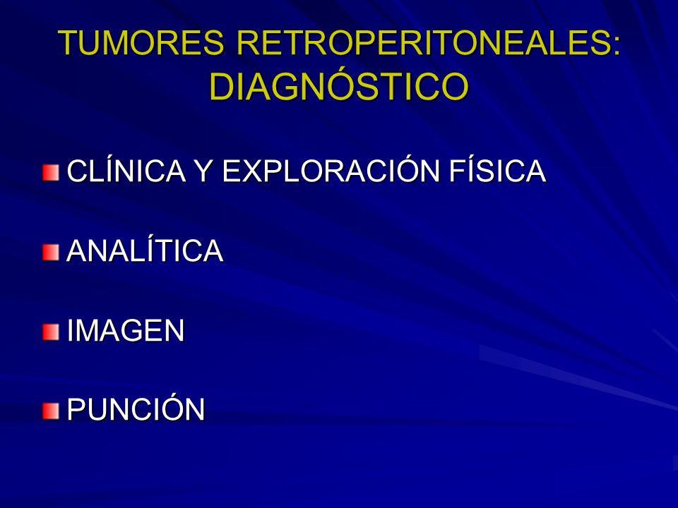 TUMORES RETROPERITONEALES: DIAGNÓSTICO CLÍNICA Y EXPLORACIÓN FÍSICA ANALÍTICAIMAGENPUNCIÓN