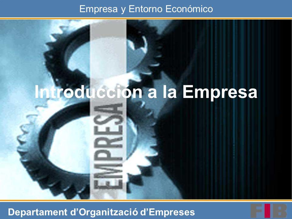 INT 32Empresa y Entorno Económico Administración del sistema empresa ESTRATEGIA SALIDASENTRADAS CONTROL Planificación Organización Hacer hacer ENTORNO influencia Decidir EJECUCIÓN