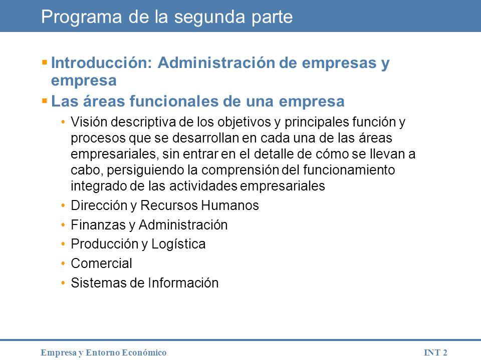 INT 23Empresa y Entorno Económico La empresa familiar.