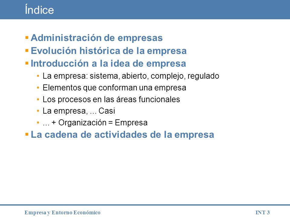 INT 44Empresa y Entorno Económico Actividad en clase