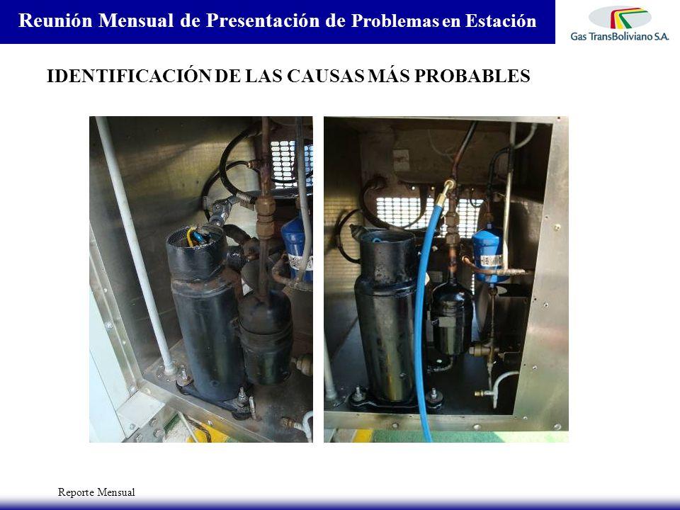 Reporte Mensual Reunión Mensual de Presentación de Problemas en Estación IDENTIFICACIÓN DE LAS CAUSAS MÁS PROBABLES
