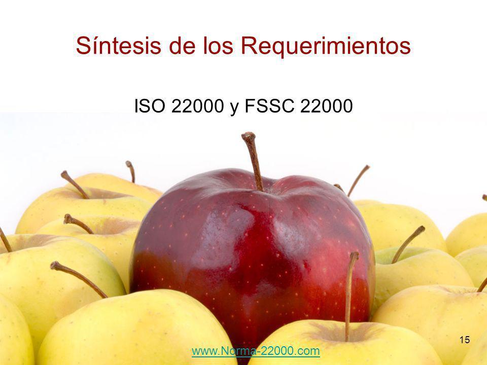 15 Síntesis de los Requerimientos ISO 22000 y FSSC 22000 www.Norma-22000.com