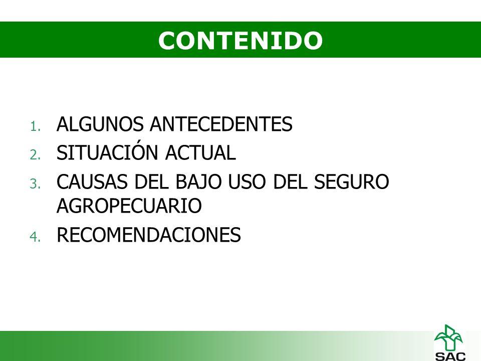 ANTECEDENTES DEL SEGURO AGROPECUARIO