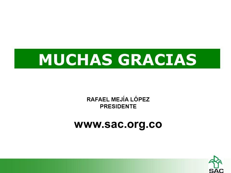 MUCHAS GRACIAS RAFAEL MEJÍA LÓPEZ PRESIDENTE www.sac.org.co