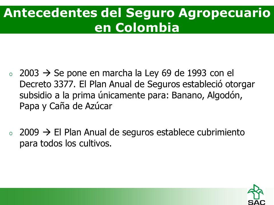 o 2003 Se pone en marcha la Ley 69 de 1993 con el Decreto 3377.